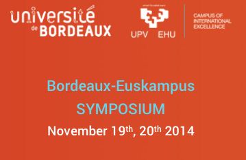 Symposium Bordeaux-Euskampus 19-20 novembre 2014