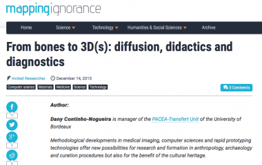 From bones to 3D(s): diffusion, didactics and diagnostics