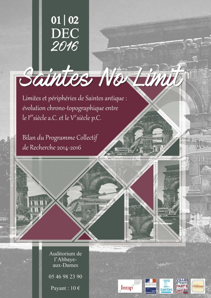 Table ronde « Saintes No Limit » limites et périphéries de Saintes antique, le 1er décembre 2016