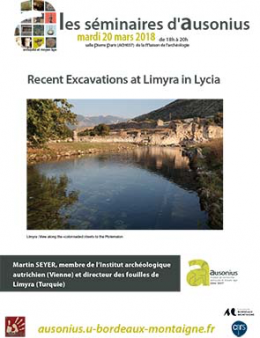 Séminaire AUSONIUS du 20 mars 2018 : recent excavations at Limyra in Lycia